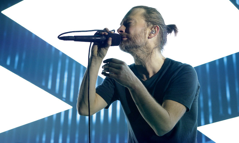 AMSTERDAM, NETHERLANDS - OCTOBER 14: Thom Yorke of Radiohead performs at Ziggo Dome on October 14, 2012 in Amsterdam, Netherlands. (Photo by Greetsia Tent/WireImage)